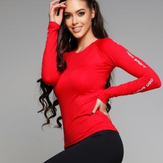 NDN - Funkční triko dlouhý rukáv dámské GERTI (červená)