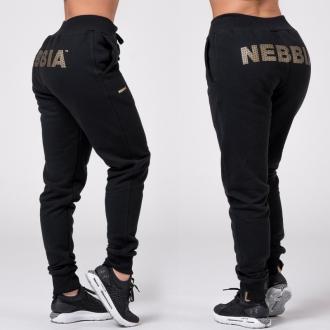 NEBBIA - Kalhoty Gold Classic 826 (black)