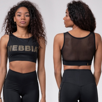 NEBBIA - Mini top Gold mesh 830 (black)